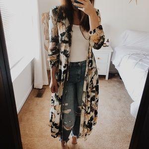 H&M floral wrap dress/kimono